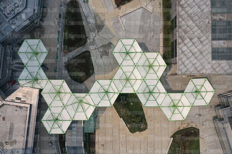 五乡地铁站伞状PTFE膜结构项目