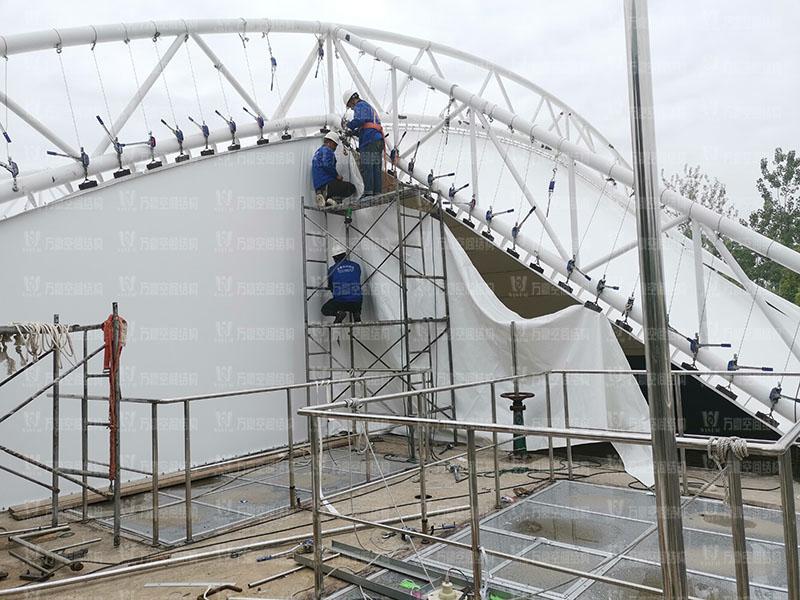 淮安盐化新材料产业园区污水处理厂膜结构项目竣工