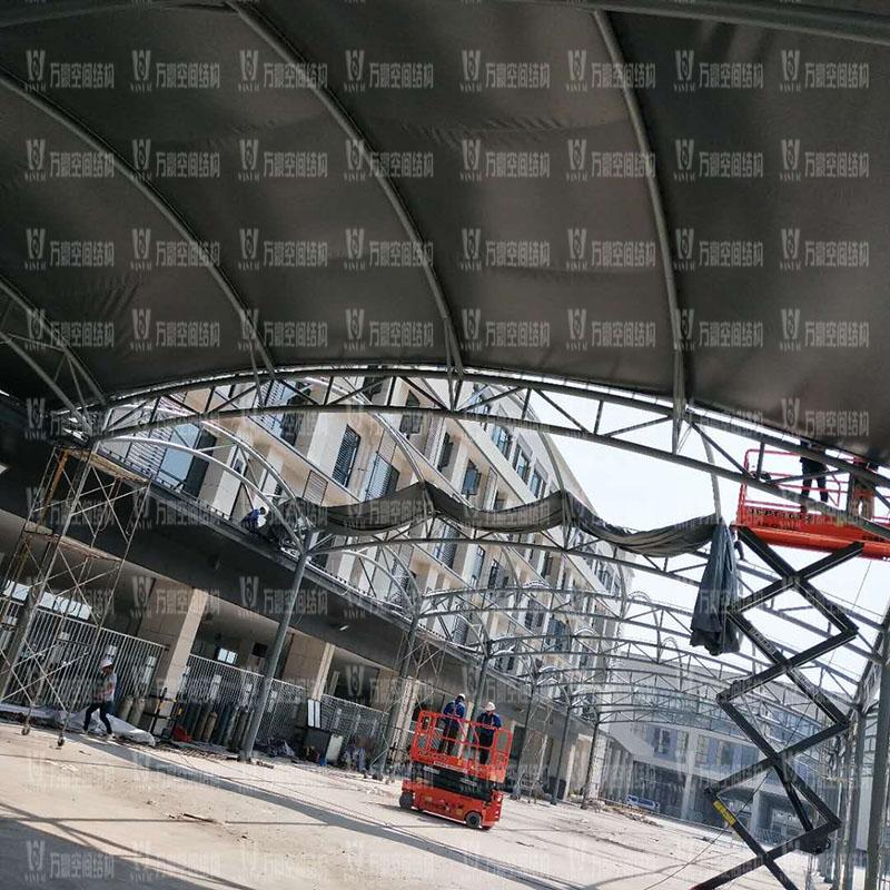 奉化方桥农副膜结构雨棚工程项目竣工