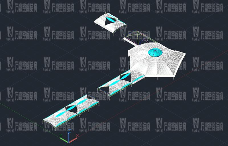 新泰卓越·财富广场膜结构项目