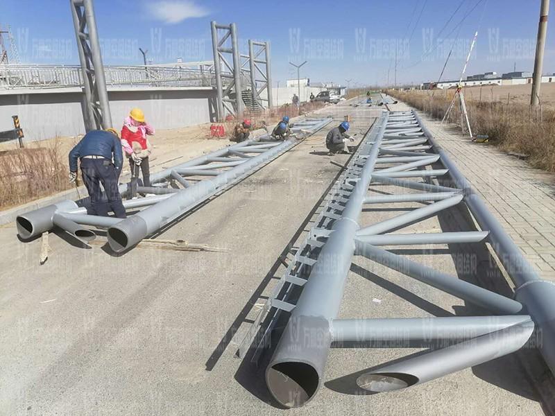 格尔木工业园昆仑工业区工业污水厂污水池保温膜结构工程
