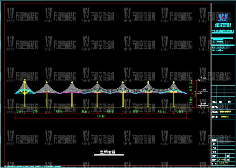 乌兰县茶卡景区旅游扶贫基础设施项目(二期)膜结构工程竣工