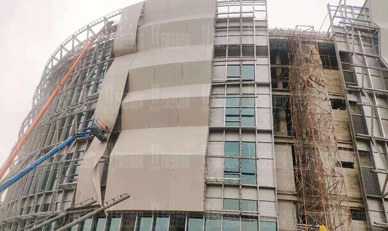 绍兴国际会展中心一期B区会议中心 PTFE外立面网格膜工程竣工