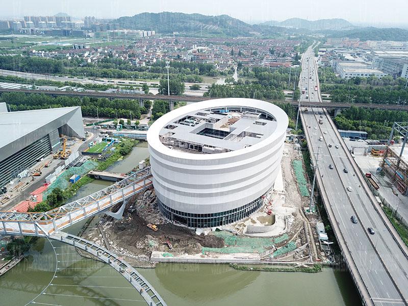 绍兴国际会展中心一期B区会议中心PTFE外立面网格膜工程