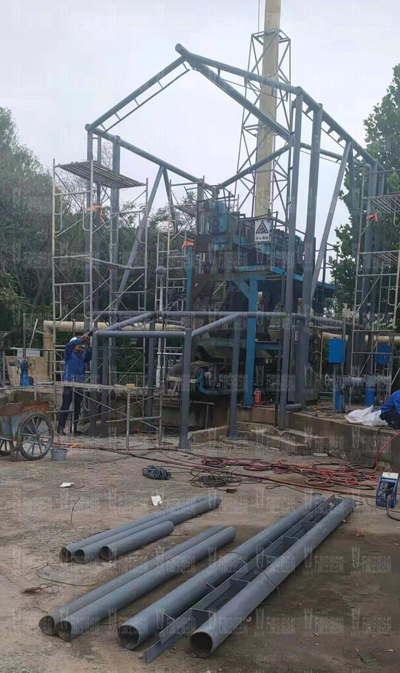 亳州市污水处理厂一期氧化沟密封升级改造工程开始施工
