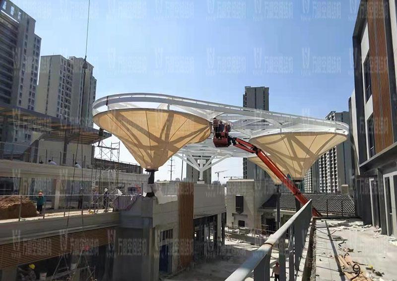 台州大板桥ETFE气枕天幕工程