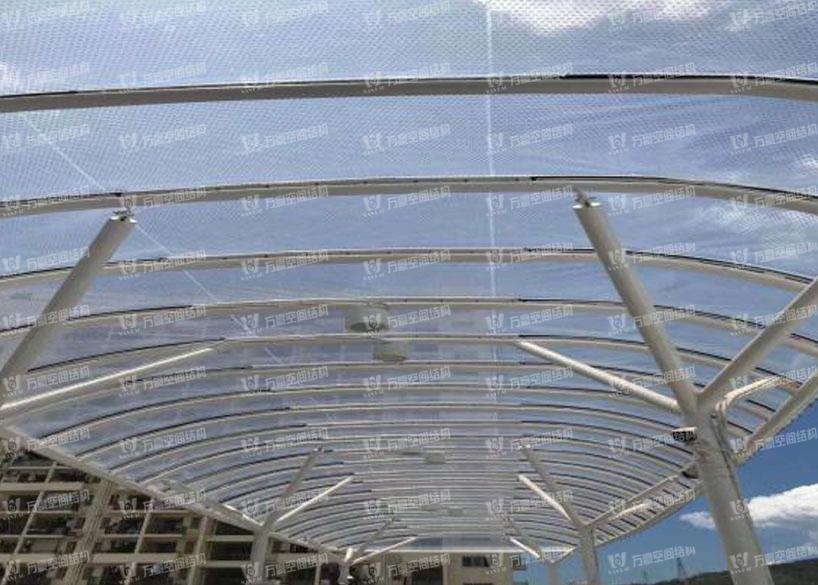 深圳公交站雨棚膜结构