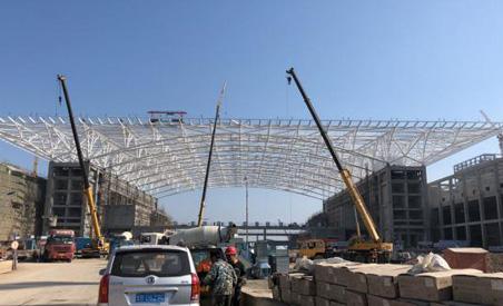 红岛国际会议中心异型钢结构项目