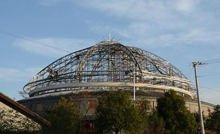 天华乡村大舞台异型钢结构项目