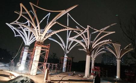 东莞市东江西岸异型钢结构项目