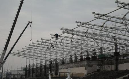 遵义职院异型钢结构项目