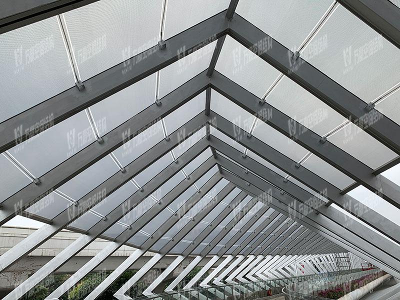 深圳龙岗三馆一城ETFE连廊膜结构项目