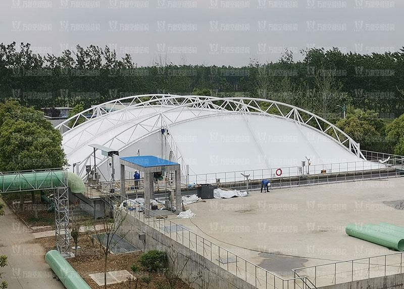 淮安盐化新材料产业园污水池膜结构项目
