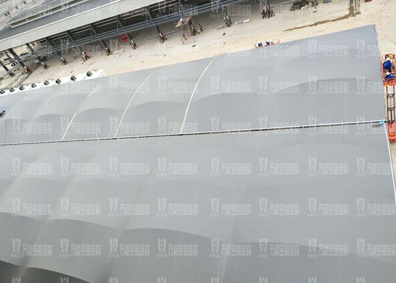 奉化方桥农副钢膜结构雨棚工程