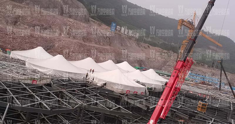 南京园博园穹盖式膜结构棚项目最新进展