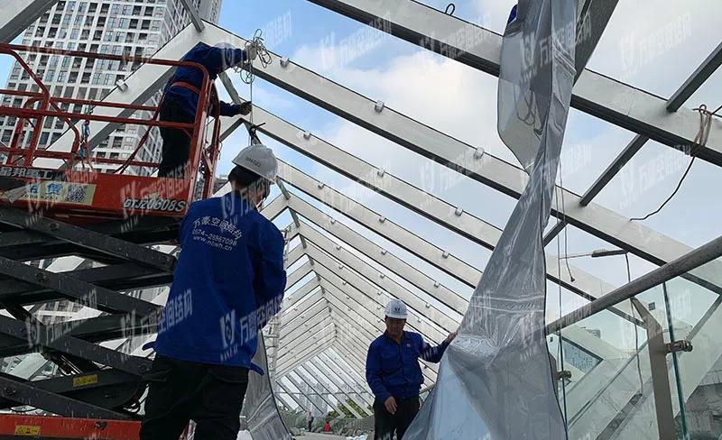 深圳龙岗三馆一城ETFE连廊膜结构工程项目