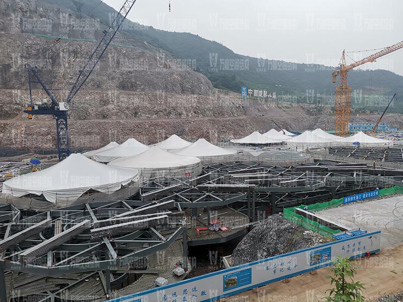 南京园博园穹盖式膜结构棚项目竣工