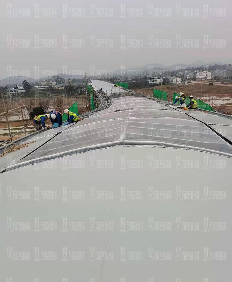 四川南充电影学院景观膜结构工程膜结构安装中