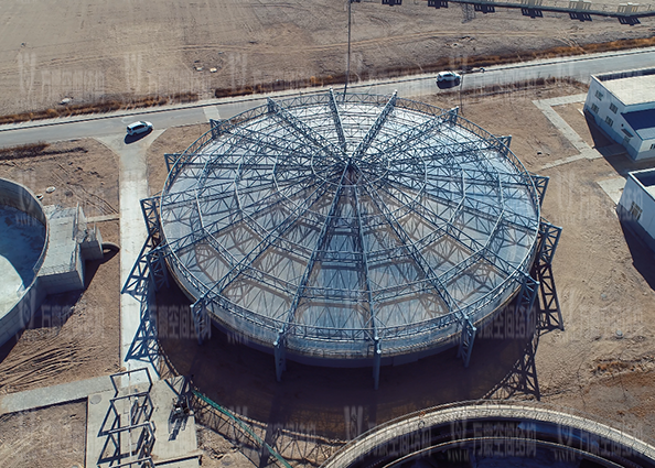 格尔木工业园ETFE膜结构污水池加盖工程