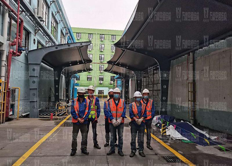 盖尔太平洋公司膜结构车棚工程