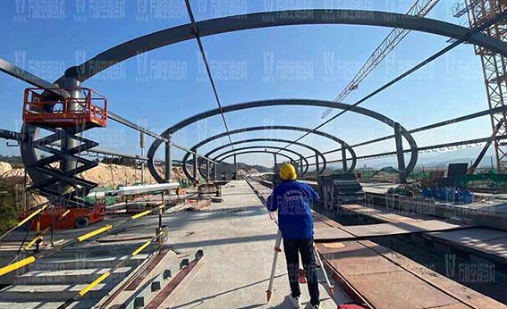 清远磁悬浮项目莲湖车站钢膜结构工程