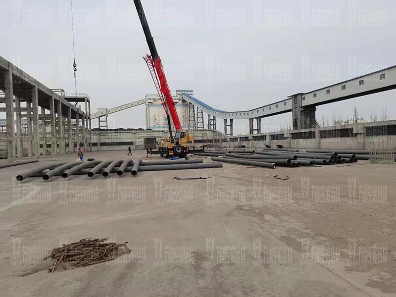 内蒙能源长城五矿选煤厂钢骨架膜棚建设项目开始施工