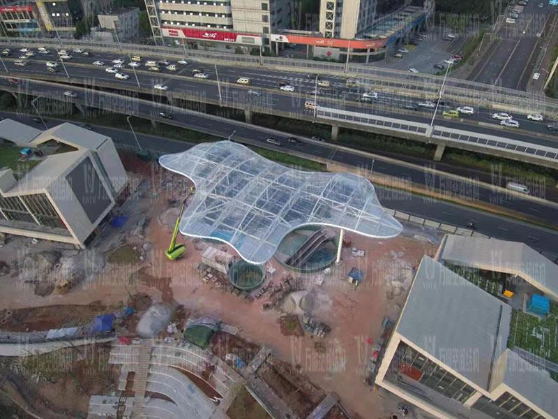 长沙圭塘海绵示范公园建设项目ETFE膜结构工程