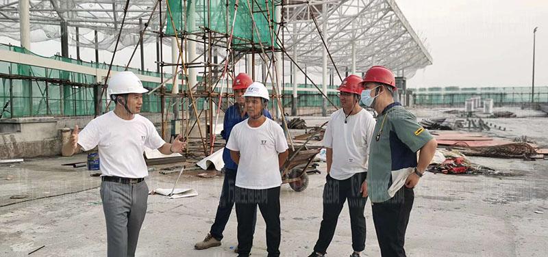 杭州亚运会棒(垒)球体育文化中心膜结构项目火热施工中