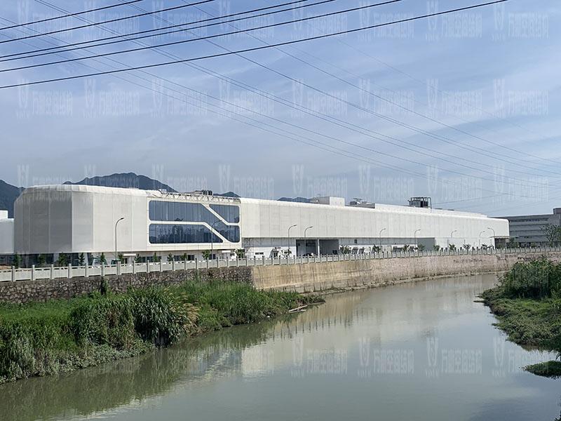 宁波益富乐公司新厂房外立面PTFE网格膜结构工程
