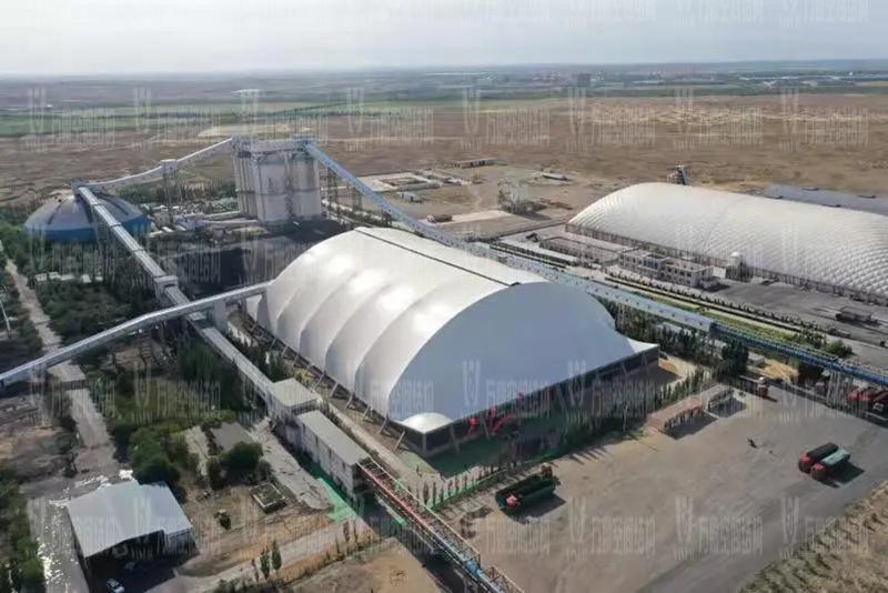 内蒙能源长城五矿选煤厂钢骨架膜棚建设项目