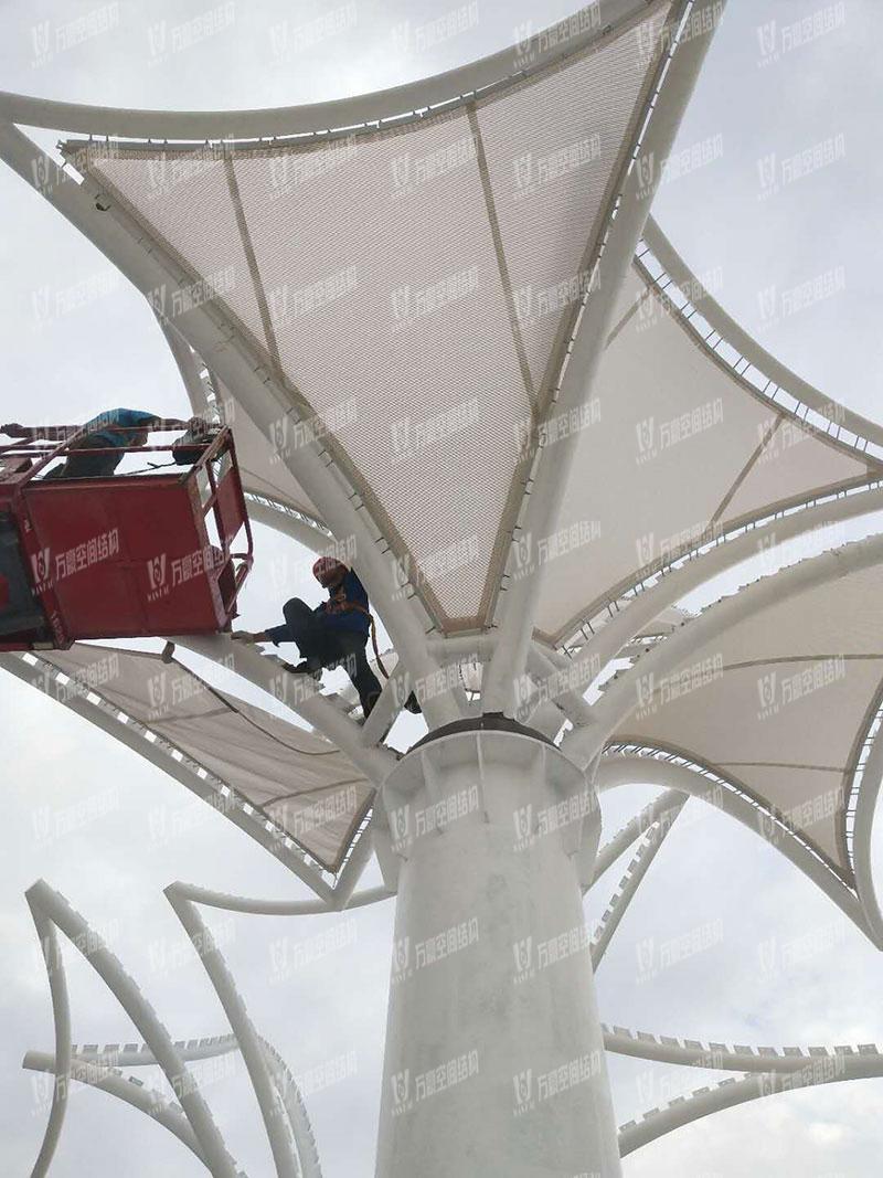 东莞市东江西岸PTFE网格覆膜结构项目