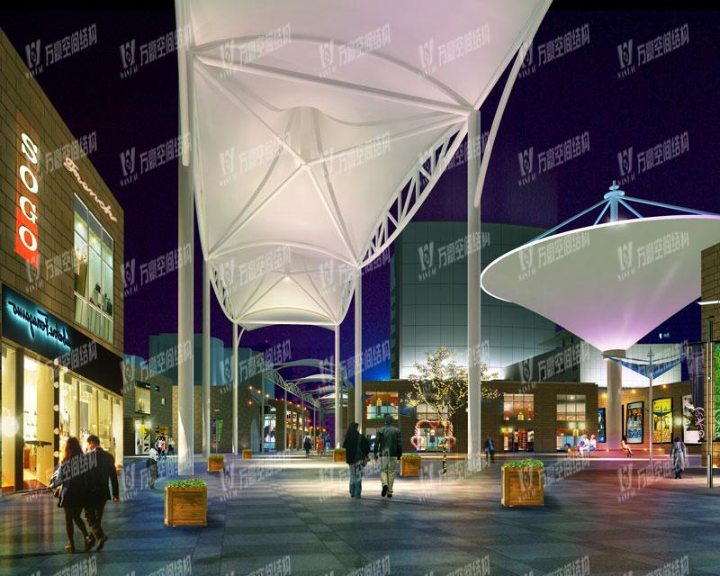 舟山恒都汇商业广场膜结构
