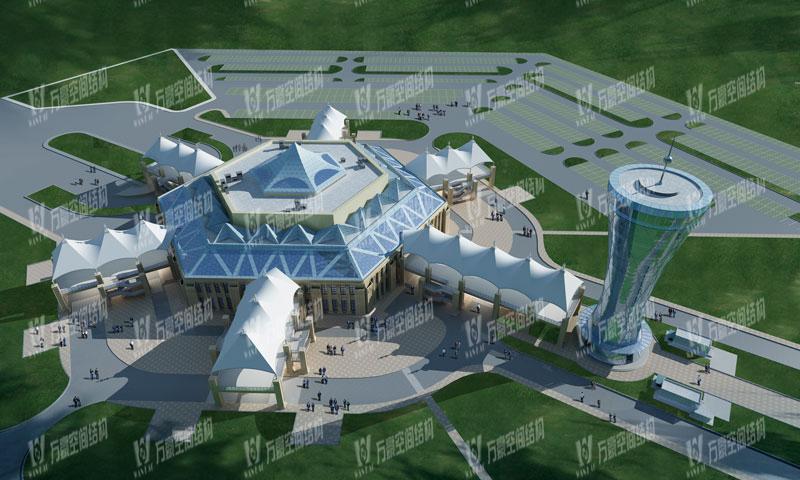 青海茶卡盐湖天空之境集散中心钢膜结构项目