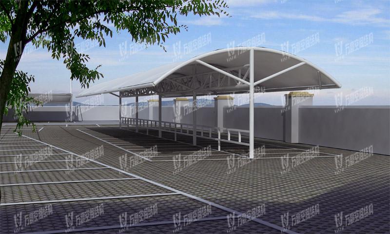 万豪2019第15标-宁波市望春监狱非机动车膜结构停车棚及办公区大门道闸工程